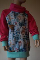 Voor: Sweater hert, maat 110/116 en 122/128 op voorraad