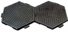 Напольная чугунная плитка (Вес - 7,3 кг., в 1 кв. м. - 13 шт., материал: не ниже СЧ 15)