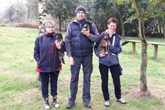 3 von 4 Kaninchenteckel der Gruppe Letzlinger Heide.