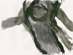 Streifzüge_Waldweg 4_2017_Tusche auf Papier_24 x 32 cm