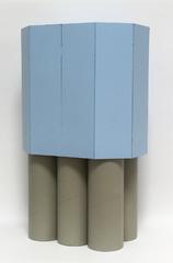 o.T., 2017 (Pappe, Lack, 50,5x30x19,5 cm)