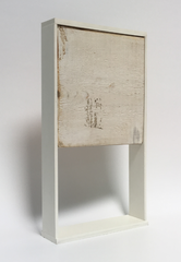 o.T., 2018 (Holz, Kunststoff, 42x23x6,5 cm)