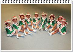 v.l.n.r. Shirley Klibisch, Inken Grundmann, Fee Heinrichs, Laura Eschweiler, Leonie Nelles,  Bastian Nähle,  Sara Cleven, Liane Kupke, Kiara Schumacher.