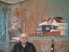 Gabriela und Roland Höll 2016, Acryl auf Leinwand 100 x 70 cm