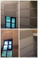 Stiegenhaus in 3 Farbtönen