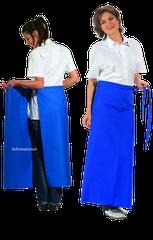 Bistroschürze  De Luxe ca. 100 x 100cm, 35% Baumwolle/ 65% Polyester, 215g/qm                                                  Preis ab 15,50€/ Stck inkl. Mwst.