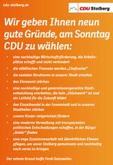 9 Gründe CDU zu wählen