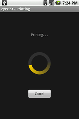 cyPrint - Printing Screen