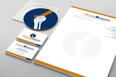 Corporate Design Briefpapier Visitenkarten Logoerstellung Gelenkpraxis Eisleben
