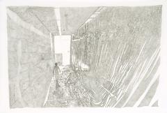 Cristina Ohlmer, ANNAS AUFBAU, 2005, Chinatusche auf Transparentpapier, 90 x 120 cm