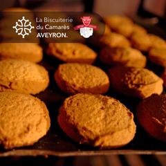 Les biscotins en cuisson.