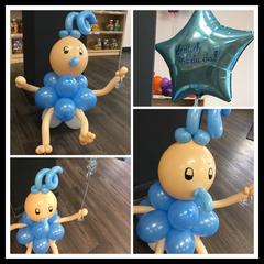 Baby Figur 16,90€ + Folienballon 6,99€ Beschriftung 0,10€ pro Buchstabe