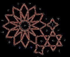 Met het tekenprogramma 'geogebra' wordt het ontwerp nagemaakt op de computer
