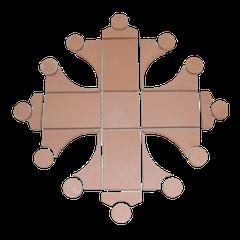 Croix occitane au sol avec 29 éléments diamètre 1.00 ML