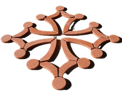 Croix occitane au sol 1.20 ML en 28 éléments