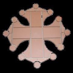 Croix occitane au sol avec  33 éléments diamètre 1.00 ML