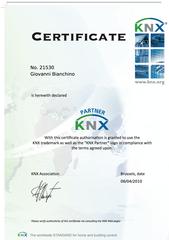 Certificazione KNX Partner