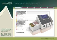 Frank Fuß Bedachungen - hier: Website - ferner: Flyer, Banner, Broschüren
