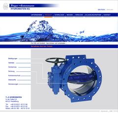 Hydromaten AG - hier: Websitegestaltung - ferner: Mehrsprachige Prospekte, Messebanner, Tabellenschieber