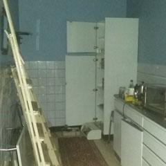 Keuken voor de renovatie werken