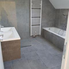 Badkamer na de renovatie werken