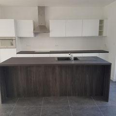 Keuken na de renovatie werken
