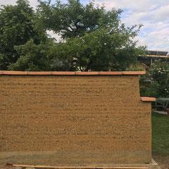 Stampflehm Gartenmauer/ Sichtschutz