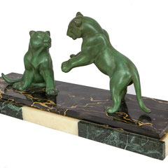 "Art Déco Sculpture, ""Gambling Panther"", France 1920-1930"