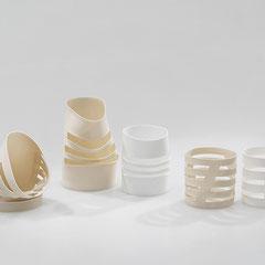 Schnittformen | 2003, H: 67 - 110 mm, Seto- und Limoges-Porzellan