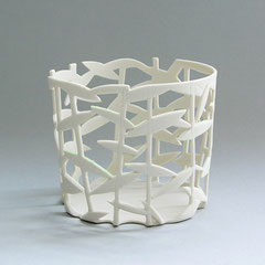 BambooSphere | Skizze 2009, H: 71 mm, D: 79/87 mm, Limoges-Porzellan
