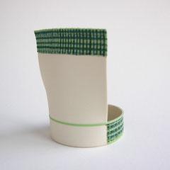 Partialform grün | 2008, H: 118 mm, Limoges-Porzellan