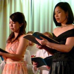 Unsere Solo-Damen Yuriko Ozaki und Orine Nozaki