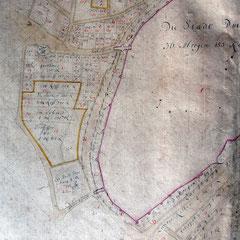 de Lancizolle 1733 Detail aus Carten von dem Amt Duisburg