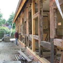 Restaurierung Gebäude Waldstr. 3, Ausbau als Café