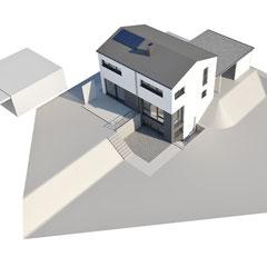 Einfamilienhaus Wört, Ansicht von oben