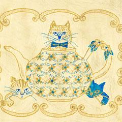 Cat in the pot  オリジナル