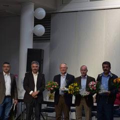 Referenten auf der Feier ( Mitglieder der Aktion Hoffnungschimmer, Aslan Kizilhan von GEA und Herr tahir vom kurdischen Volksrat