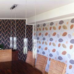 Esszimmer: Wandgestaltung mit Vliestapete
