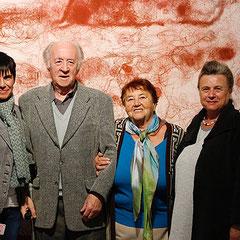"""Die beiden """"Großen"""" der tschechischen Literatur: Josef Hruby und Karla Erbová umrahmt von Carola Kupfer und Marita Panzer vom Ostbayerischen Schriftstellerverband, Museum der Stadt Pilsen September 2015"""