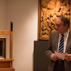 Dr. Herman Reidel bei der Einführung zu Zoffany vor Originalen im Historischen Museum Regensburg