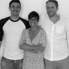 Das Autorenteam von Manni Ballnane: Stefan Plötz, Carola Kupfer und Ben Rückert