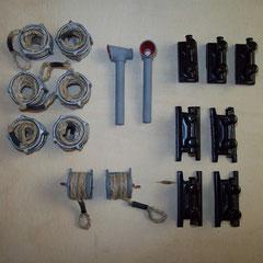 Seilkörbe,Drucklüfter und Doppelkreuzpoller