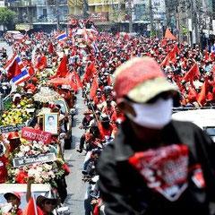 Begravelsesoptog for de dræbte demonstranter