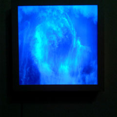 """Ausstellungsansicht Detail, """"Junge 15"""", Kunstverein Mistelbach 2014"""
