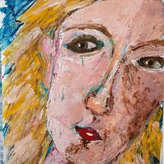 Portrait, blonde Frau, 2020