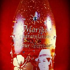 写真 ワイン  オリジナルボトル シャンパン 金箔入り ロゴ入り 世界で1つ オーダーメイド 名入れ ロゴ入れ 格安 製作 東京