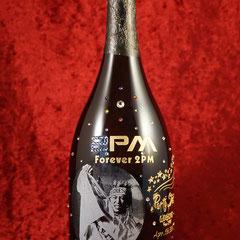 2PM  ドンぺり オリジナルボトル シャンパン オーダーメイド 写真をそのまま ギフト オンリーワン 製作 格安 東京 ワイン