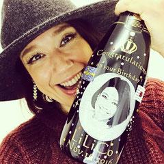 LiLiCoさん 写真彫刻 オリジナルシャンパン モエ・エ・シャンドン オーダーメイド オリジナルボトル 名入れ 格安 ワイン