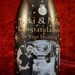 結婚祝い マグナム ボトル 写真 ワイン  オリジナル シャンパン 世界で1つ オーダーメイド 名入れ ロゴ 格安 製作 東京 酒 オーダー