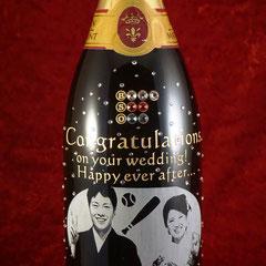 結婚祝い マグナムボトル 写真  シャンパン ワイン 世界で1つ オーダーメイド 名入れ ロゴ入れ 格安 オリジナルボトル 製作 東京